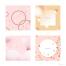 24款春天可爱粉色系图案背景广告宣传方形背景PSD模板设计素材