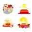 39款国潮手绘卡通中秋国庆月亮节日海报元素插画PNG免抠图片PSD源文件素材