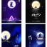 20款蓝色浪漫月色月亮七月七牛郎织女相会七夕情人节快乐PS海报设计素材
