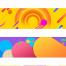 36款时尚渐变活动促销banner首页网页横幅背景底纹设计PSD分层素材